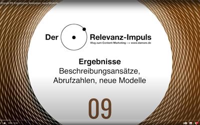 Der Relevanz-Impuls 09: Ergebnisse, Analogien, neue Modelle